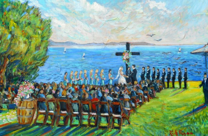GILMORE KLEIN WEDDING (studio) 16″ x 20″ oil
