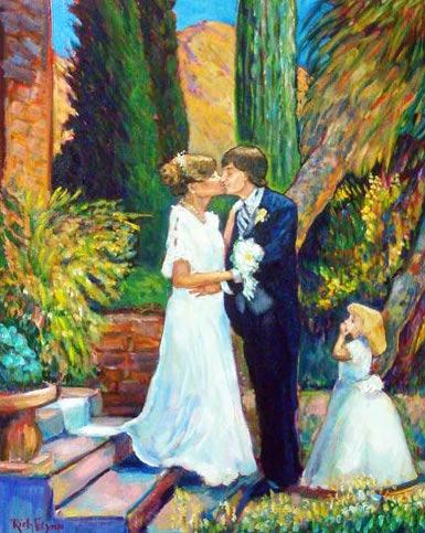 Peggy & Jim's  Anniversary Gift   studio  oil 24″ x 30″
