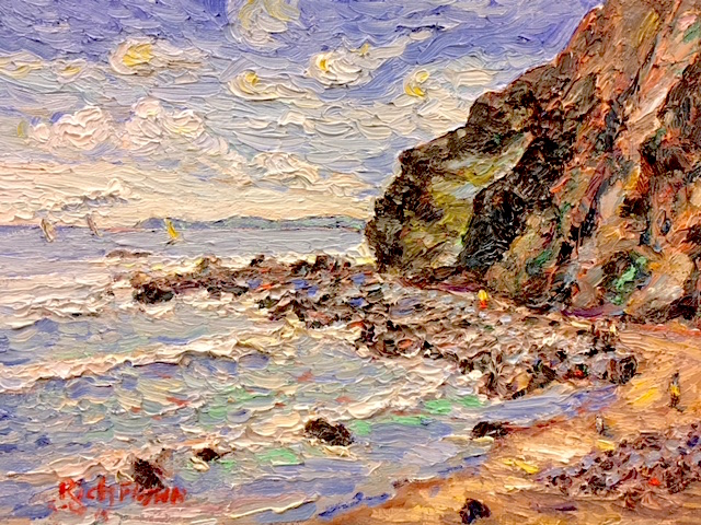 FACING THE POINT    Dana Point Ca.    oil  12″ x 9″  5-28-18