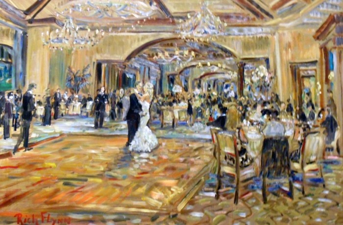 The Brown Colin Wedding  Big Canyon Country Club Newport Beach, Ca  oil 30″ x 40″