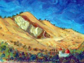 Mission hills San Juan Capistrano, Ca water color 11″ x 15″