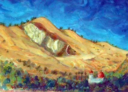Mission hills San Juan Capistrano, Ca water color 11″ x 15″