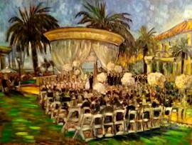 The Gross Wedding  St. Regis Resort Monarch Beach Ca.  oil 30″ x 40″ 9-26-15