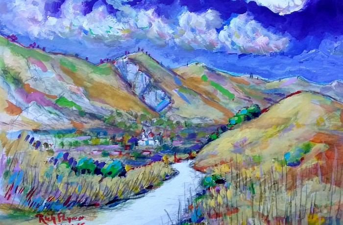 Path to San Juan Capistrano water color 11″ x 15″ 9-30-15