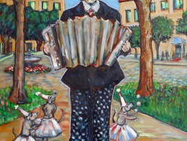 Accordain Man (commission) oil 48″ x 36″
