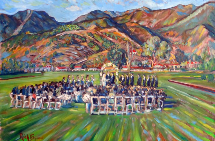 The Botsford Wedding Polo Racquet Club  Santa Barbara, Ca  oil  30″ x 40″