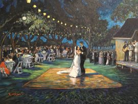 THE CAMACHO WEDDING   Sacramento Ca.   LIVE/STUDIO  oil  30″ x 40″  11-5-17