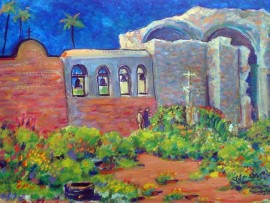 Mission Bells San Juan Capistrano, Ca water color 15″ x 10″
