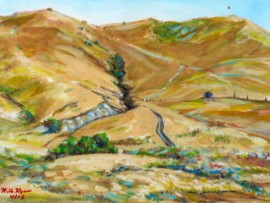 BACK HILLS  San Juan Capistrano  water color  11″ x 15″