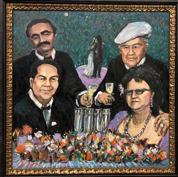 Family Memorial Portrait Painting    A surprise gift to the Groom, from the Bride, of the Family members who passed away before the Wedding   oil  14″ x 14″ 11-8-19