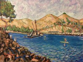 DANA POINT HARBOR  OIL  16″ X 20″  8-23-19