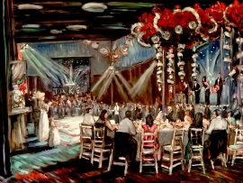 JAKE'S BAR MITZVAH    Agoura Hills  Ca.    oil  30″ x 40″   11-19-16