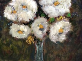 MATILIJA POPPIES      WATERCOLOR  14″ X 18″  6-1-2020