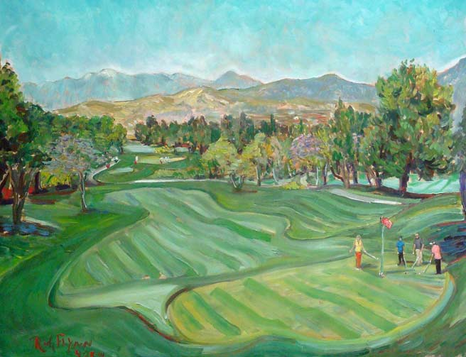 KIDWORKS BENEFIT GOLF TOURNAMENT Aliso Viejo Country Club , Ca oil 24″ x 30″  SOLD AT AUCTION
