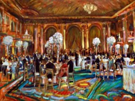 The Berns Chafetz Wedding Millennium Biltmore Hotel Los Angles, Ca oil 30″ x 40″