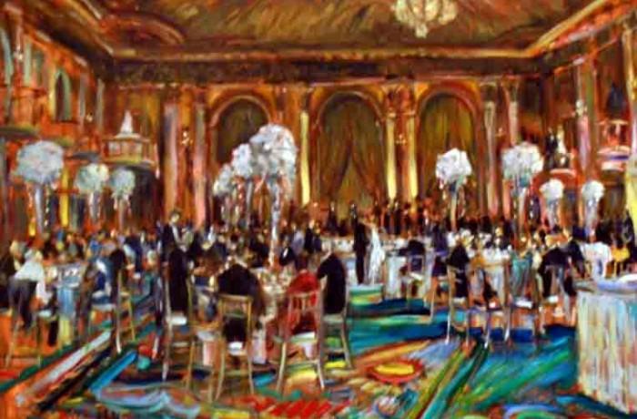 The Berns Chafetz Wedding Millennium Biltmore Hotel Los Angles, Ca oil 30″ x 40″
