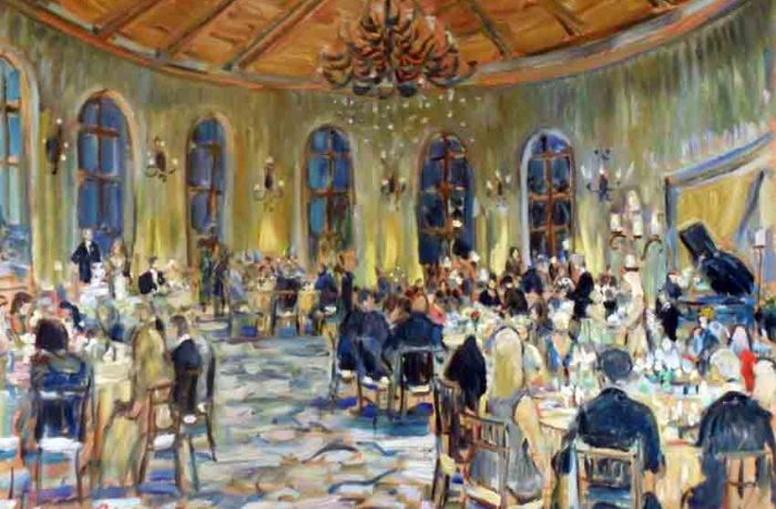 Nelson Wedding Ceremony  Bacara Resort Santa Barbra Ca.  oil 30″ x 40″