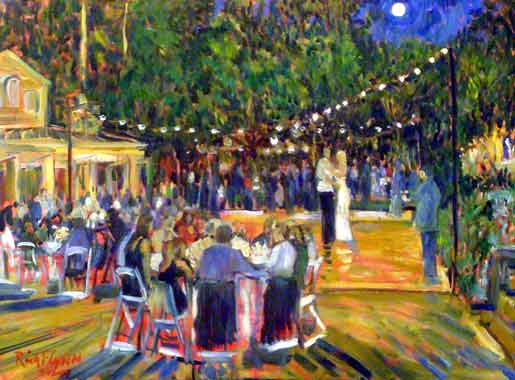 The Levine Wedding Beringer Winery St. Helena, Ca oil 30″ x 40″