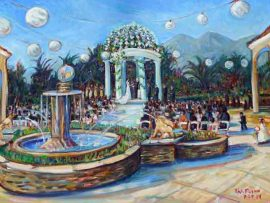 Nguyen Wedding Ceremony  Hilton, San Gabriel Ca. oil 30″ x 40″