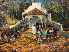 THE MACLEAN WEDDING   RANCHO LOS LOMAS CA.  LIVE/STUDIO   OIL  30″ X40″  6-20-2021