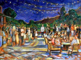 Al's 70th Birthday Party  El Niguel Country Club  Laguna Niguel, Ca  oil 30″ x 40″