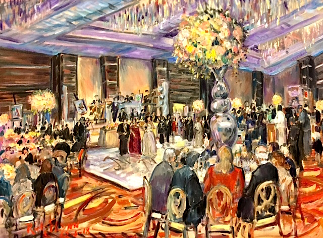 MEGAN'S BAT MITZVAH    LA HOTEL DOWNTOWN LOS ANGLES   oil  30″ x 40″ 2-3-18
