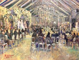 THE BEROUKHIM WEDDING  MIDDLE RANCH  SYLMAR CA.    OIL    30″ X 40″   2-20-2021