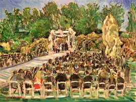 The Bitan Wedding   Four Seasons Hotel   Westlake Village ca.    oil   30″ x 40″  7-4-19