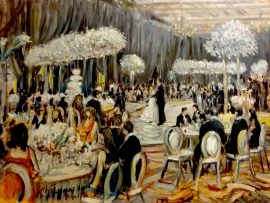 The Bloom, Gordon Wedding Reception  Montage Beverly Hills Ca.  oil 30″ x 40″ 7-1-17