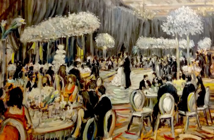 The Bloom, Gordon Wedding Reception  Montage Beverly Hills Ca.  oil 30″ x 40″ 7-1-17