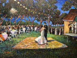 THE CAMACHO WEDDING  STUDIO   SACRAMENTO CA,  OIL   30″ X 40″   2-13-2021