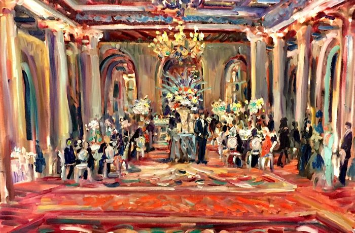 DAVID TUTERA EVENT PLANNING SYMPOSIUM   Millennium Biltmore Los Angeles Ca.  oil 30″ x 36′  6-7-17