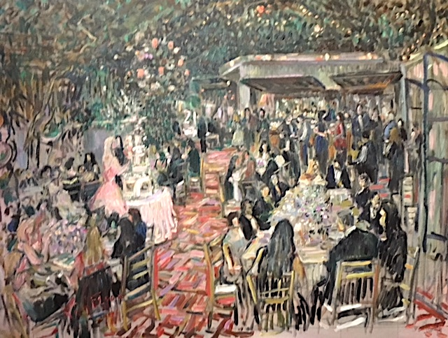 ELLE'S 21ST BIRTHDAY PARTY    LITTLE DOOR RESTAURANT  WEST HOLLYWOOD CA.  OIL 30″ X 40″  3-12-19
