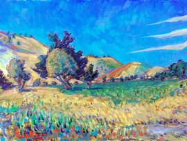 Hamilton Oaks Park  water color  11″ x 16″ 4-24-16