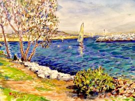 HARBOR DAY  DANA POINT Ca.  16″ x 12″   3-7-18