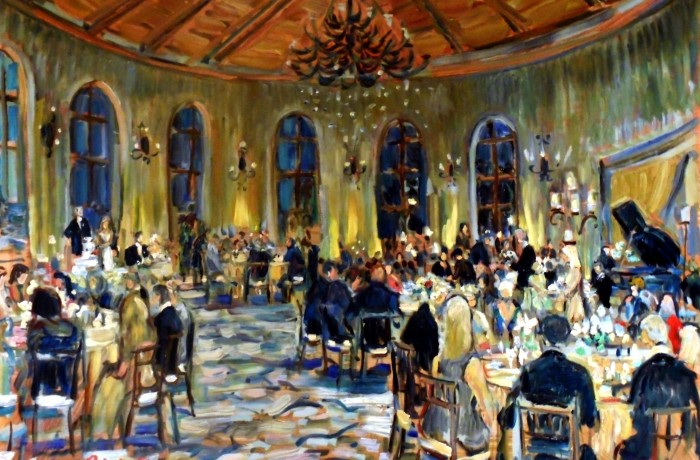 The Higgings Nelson Wedding  Bacara Resort  Goleta, Ca  oil 30″ x 40″