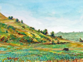 Spring in the Hills  San Juan Capistrano, Ca  water color  11″ x 15″