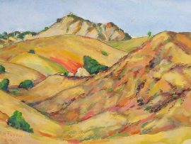HILLS OF SAN JUAN CAPISTRANO   watercolor 14″ x 16″ 8-8-16