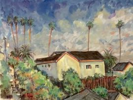 HOME DANA POINT  Ca.    water color   12″ x 16″  7-19-17