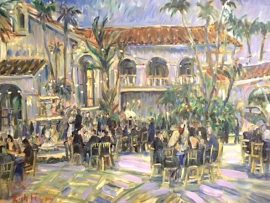 Jill & Staff's  45th  Wedding Anniversary  Villa Park Ca.   oil   30″ x 40″  5-18-19
