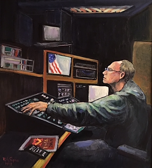 Mr. John Harnack  Retired Media Teacher  Mission Viejo high School   oil  37″ x 35″  7-7-19