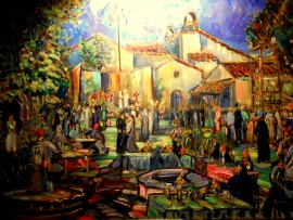 Kirstin's 50th Birthday Party Moroccan Theme  Los Angeles Ca.  oil  30″ x 40″ 8-14-15