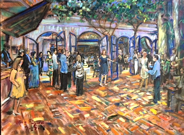 Maryellen's Birthday Party   The Little Door Restaurant  Beverly Hills Ca.   30″ x 40″  7-27-19