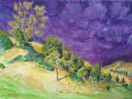 MORING ON THE 6TH  6th Hole San Juan Hills Golf Club, San Juan Capistrano Ca. water color 11″ x 16″ 5-6-16