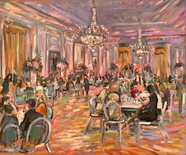 MPIOC AWARDS DINNER     Richard Nixon Presidential Library & Museum   Yorba Linda Ca.   oil  20″ x 24″  6-12-19