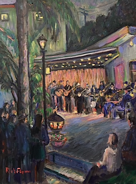 Music Jam Party  Dana Point Ca.  oil  16″ x 20″ 5-9-19
