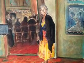 NINA HARO  Owner La Cabana Mexican Restaurant Venice Ca. 1936-2016  watercolor  15″ x 24″  12-29-16