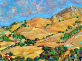 OFF ORTEGA HWY   Water color 11″ x 15″  7-10-15