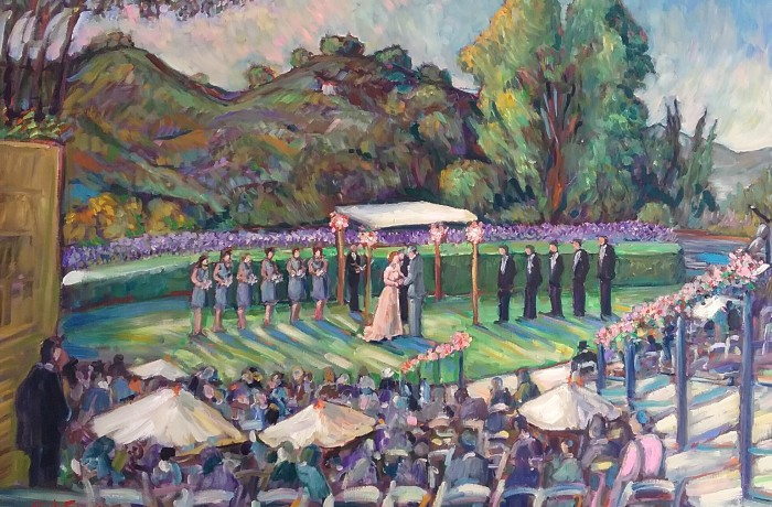 OSTER CEREMONY STUDIO PIECE  American Jewish University Los Angeles Ca OIL 30″ X 40″  3-1-16
