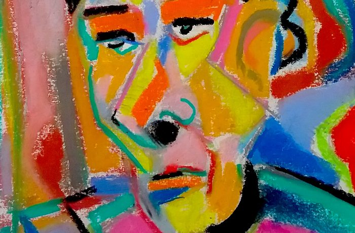 FACE MOOD 1  Pastel  14″ x 10″ 7-19-16
